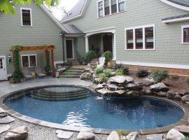 Residential - Kidney - Water Feature - Concrete - Shotcrete - Gunite - Chesterfield, VA