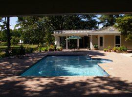 Residential - Shotcrete - Geometric - Modified Rectangle - Radius Bench Seat - Paver Coping - Mathews,VA